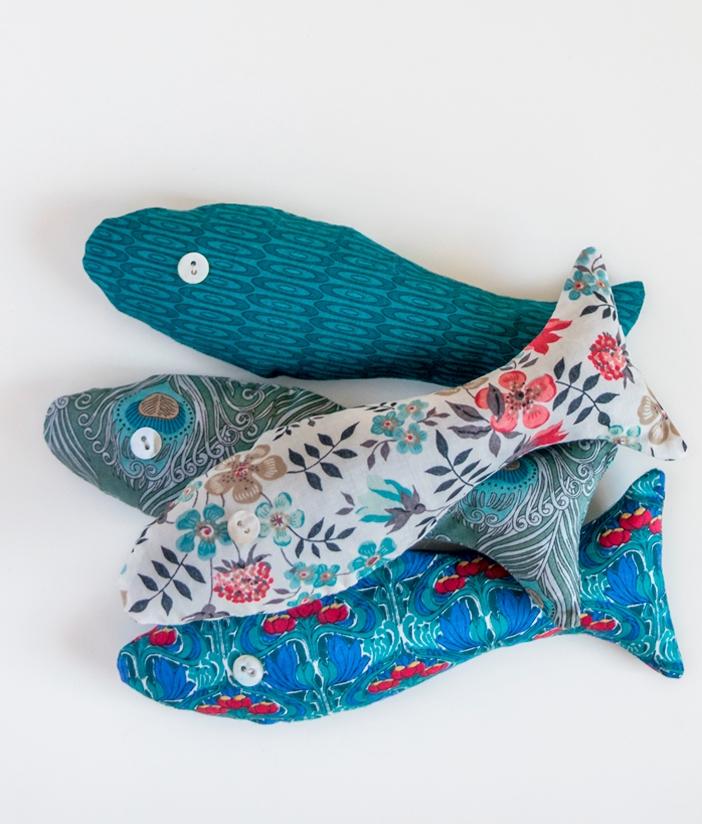 Simple DIY Lavender Fish Sachet | Free Download