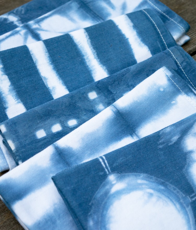 How to Make Indigo Shibori Cloth Napkins