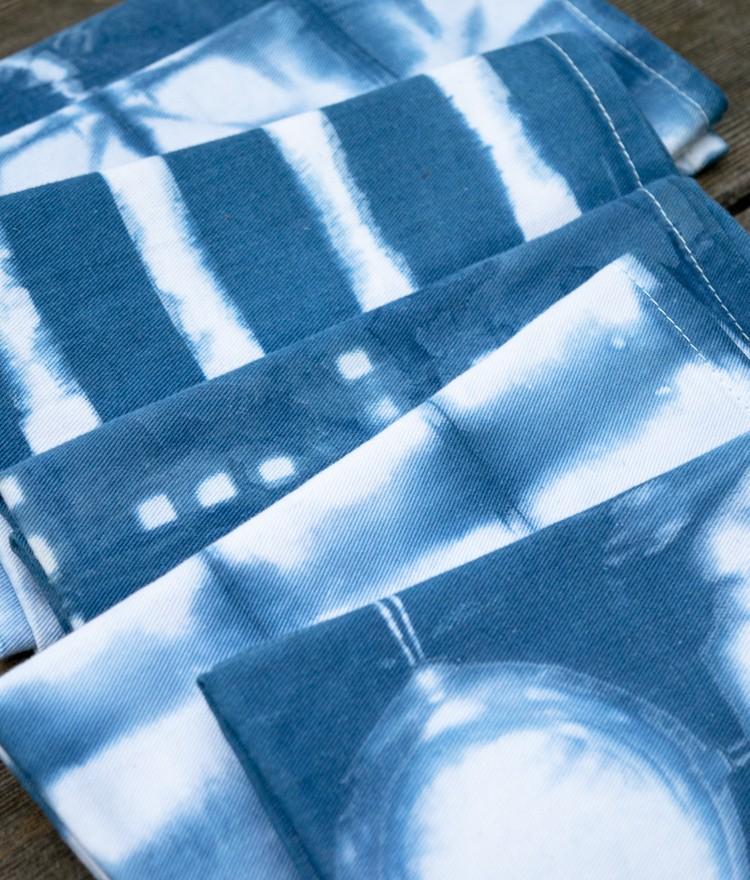 How to Make Indigo Shibori Cloth Napkins