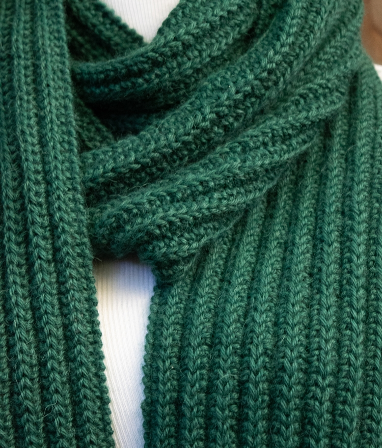 Easy Free Knit Scarf Pattern with No Purling