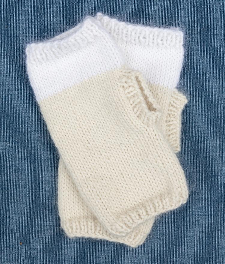 Fingerless Gloves Free Pattern Finished