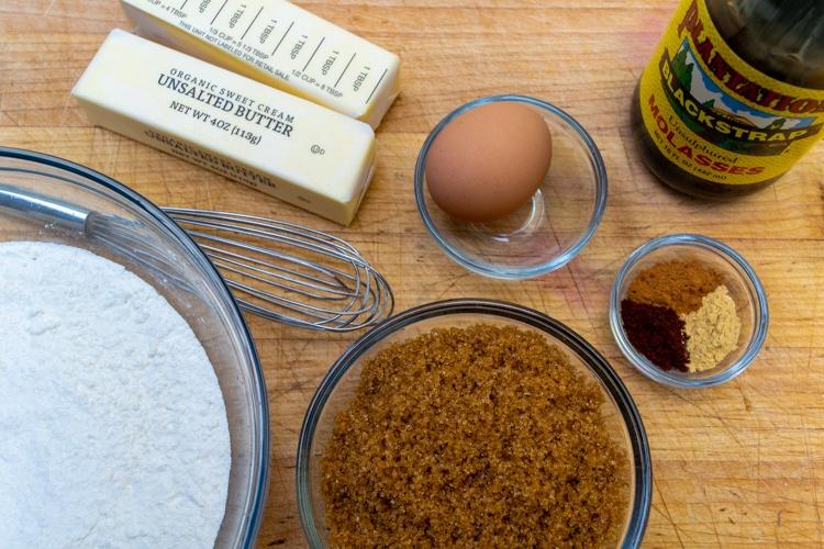 Molasses Cookie Ingredients