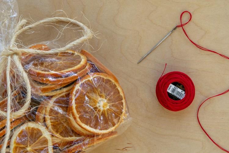Dried Orange Garland Supplies