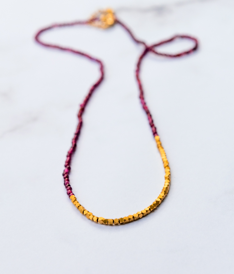 Quick Winter Craft: Make a Beaded Garnet Necklace