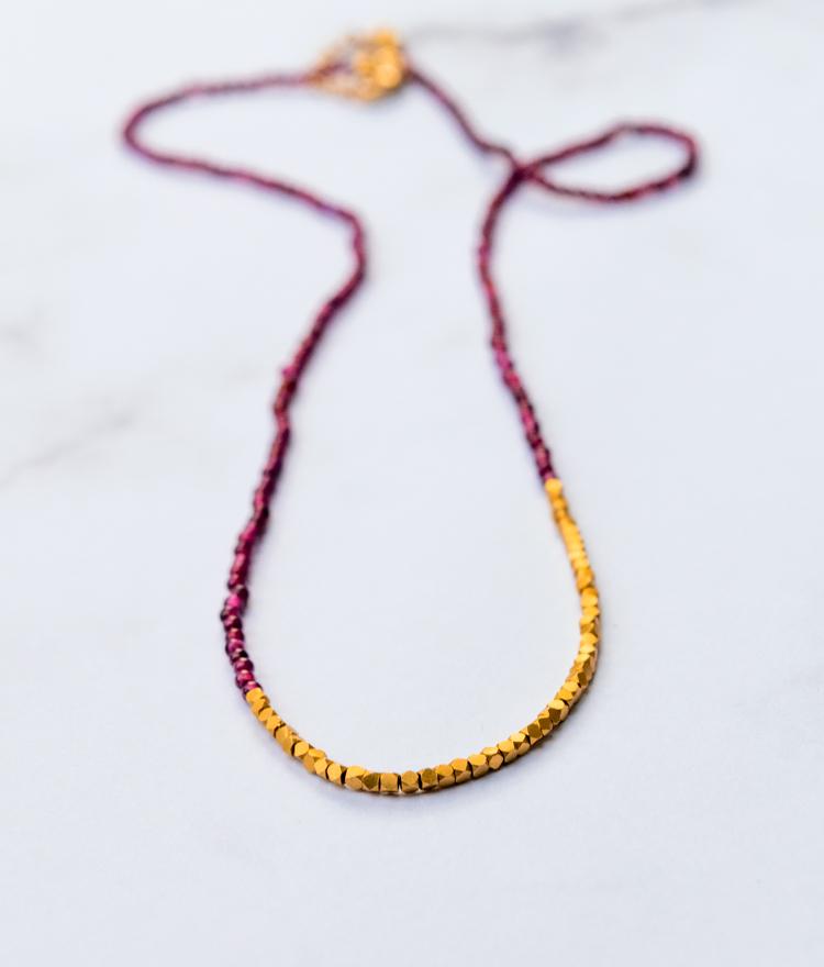 Quick Winter Craft: Make a Beaded Garnet Necklace