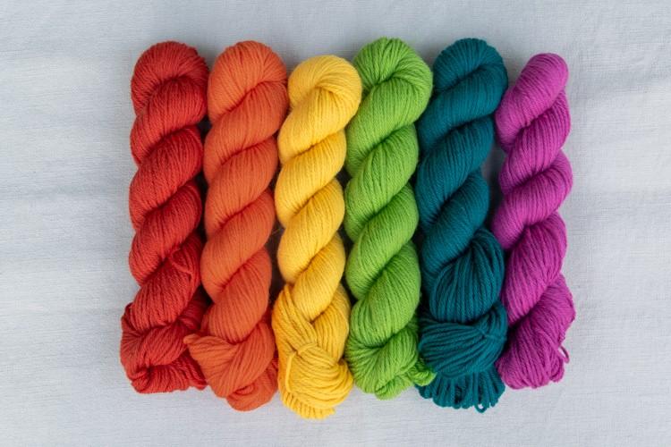 Rainbow Knit Beanie Yarn