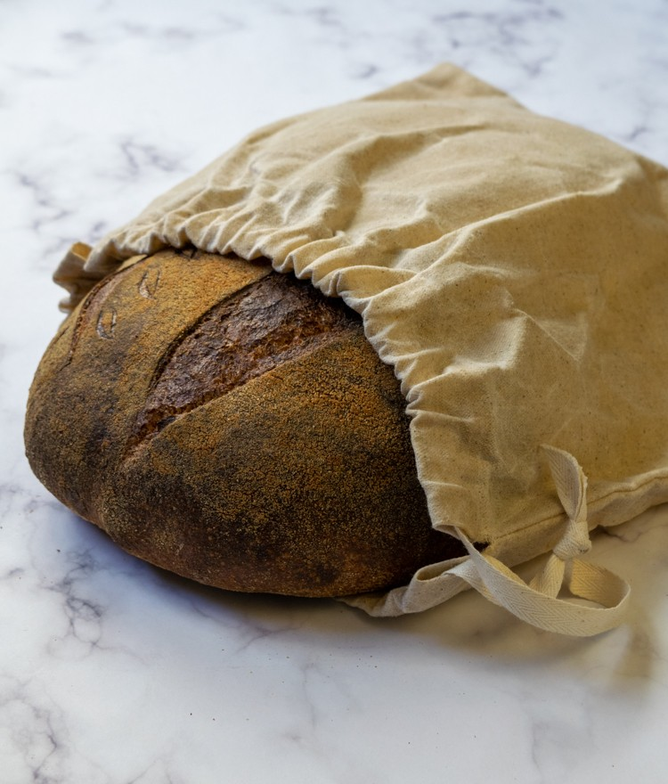 How to Keep Sourdough Bread Fresh (DIY Bread Bag)