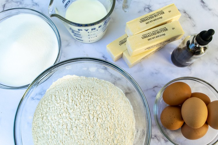 Ingredients for Simple Vanilla Cake recipe