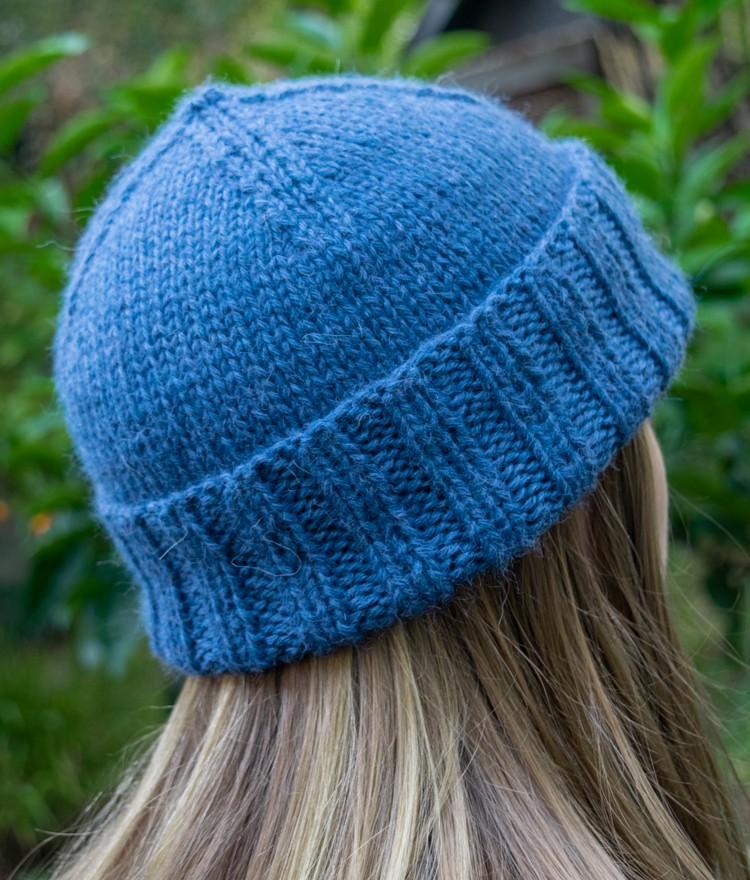 Knit Hat Pattern — Classic Cuffed Beanie