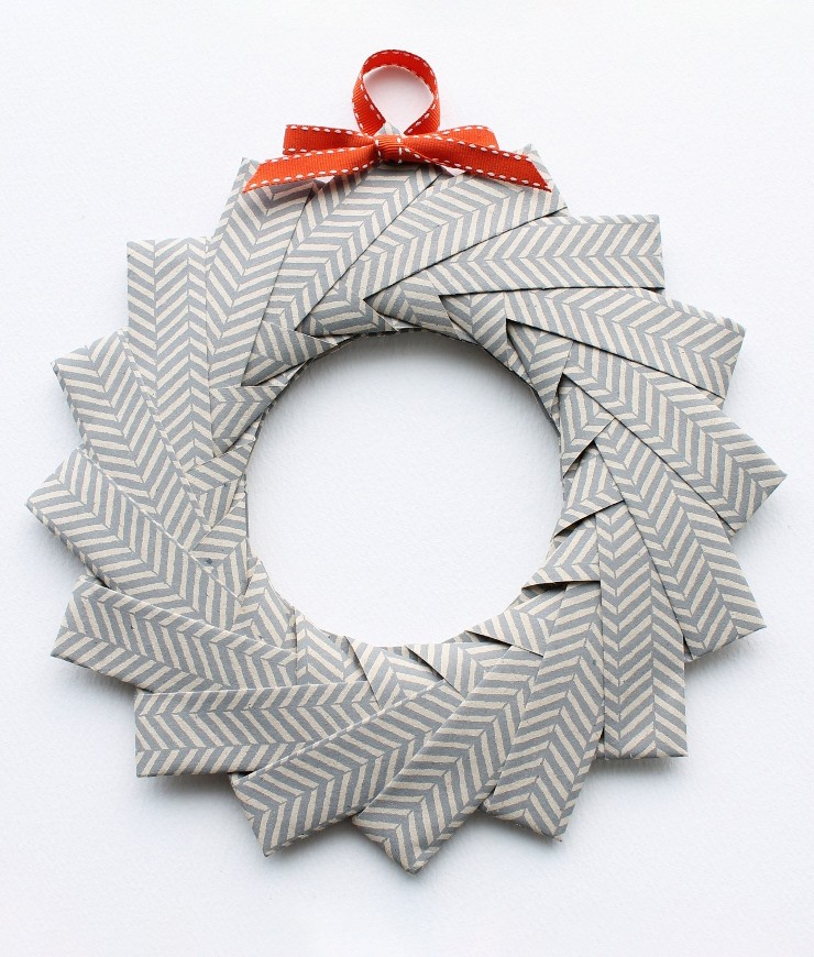 origami wreath christmas craft