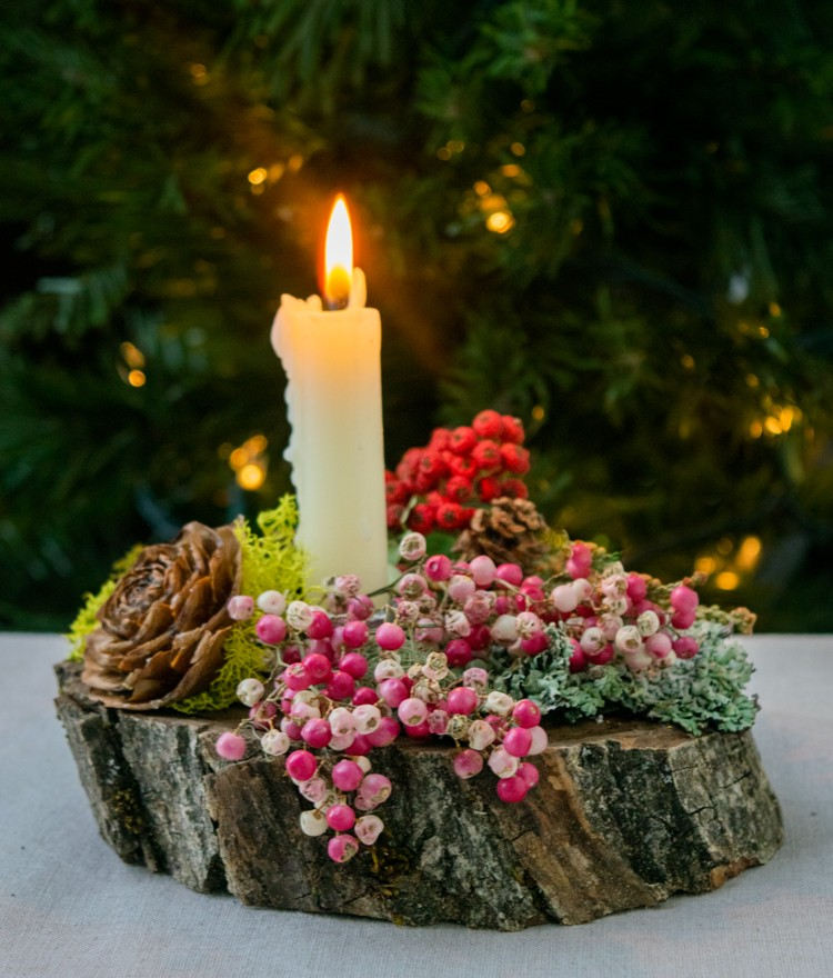 Make a candleholder Christmas craft