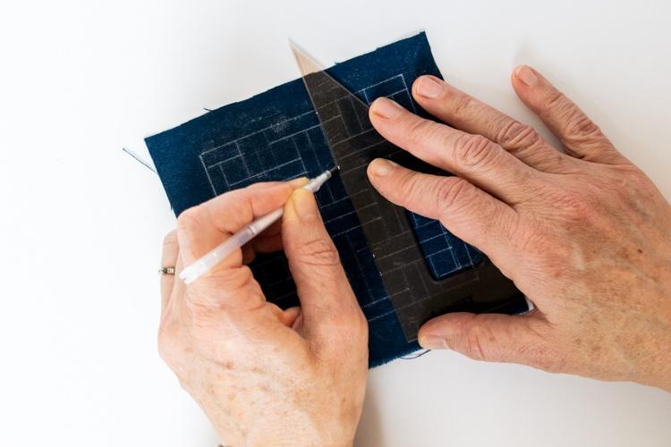 sashiko stitching redraw pattern