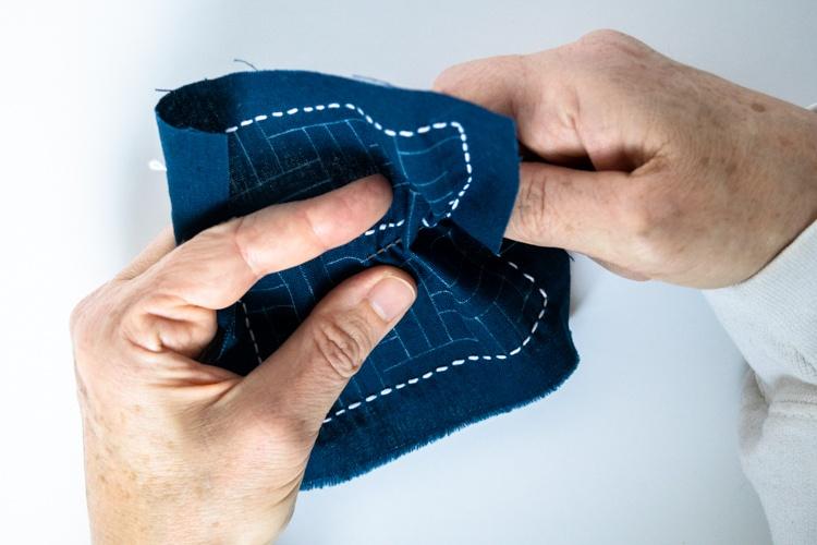 sashiko stitching sew longest lines first